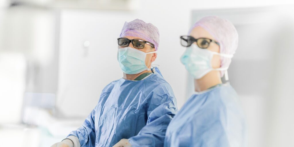 specialists during surgery